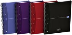 Cursusblok Oxford Essentials A4+ 120vel dubbelspiraal assorti