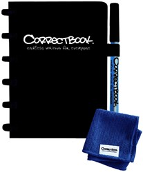 Notitieboek Correctbook A6 blanco 40blz ink black