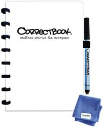Notitieboek Correctbook A5 lijn 40blz inspirational white