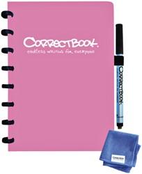 Notitieboek Correctbook A5 lijn 40blz blossom pink