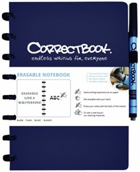 Notitieboek Correctbook A5 lijn 40blz midnight blue