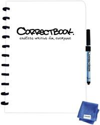 Notitieboek Correctbook A4 blanco 40blz inspirational white