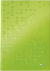 Noitieboek Leitz WOW A4 lijn groen