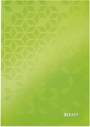 Noitieboek Leitz WOW A5 lijn groen
