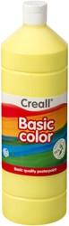 Plakkaatverf Creall basic 01 lichtgeel 1000 ml