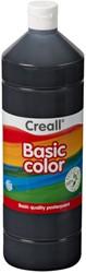 Plakkaatverf Creall basic 20 zwart 1000 ml