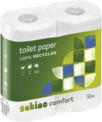 Toiletpapier Satino Comfort 2-laags 200vel wit 4rollen