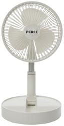Tafelventilator Perel inklapbaar en oplaadbaar Ø17cm