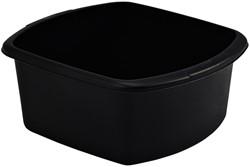 Wasbak Whitefurze vierkant 32cm zwart