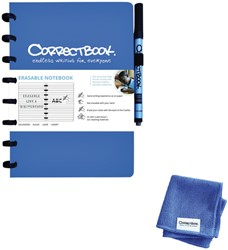 Notitieboek Correctbook uitwisbaar en herbruikbaar A5 blauw lijn 40blz