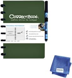 Notitieboek Correctbook A5 lijn 40blz forest green