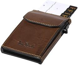 Kaarthouder Tony Perotti Slim Furbo RFID leer bruin