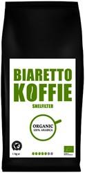 Koffie Biaretto snelfiltermaling regular biologisch 1000 gram