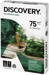 Kopieerpapier Discovery A3 75gr wit 500vel