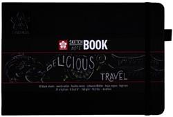 Schets-notitieboek Sakura A5 zwart