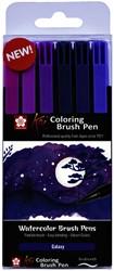 Brushpen Sakura Koi Coloring Galaxy