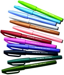 Brushpen Pentel Sign SES15C etui à 12 kleuren