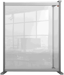 Bureauscherm uitbreidingspaneel Nobo Modulair transparant acryl 800x1000mm