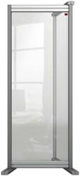 Bureauscherm uitbreidingspaneel Nobo Modulair transparant acryl 400x1000mm