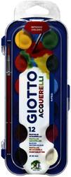 Gouache Giotto 30mm doos à 12 kleuren met penseel