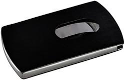 Visitekaartenhouder Sigel VZ121 Snap 12 kaarten lederlook zwart