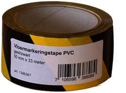 Vloermarkeringstape Budget zwart/geel 50mmx33m