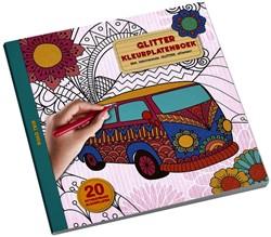 Kleurboek Interstat glitter volwassenen thema road trip