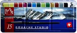 Plakkaatverf Caran d'Ache blik à 15 kleuren