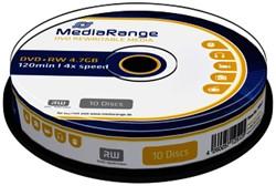 DVD+RW MediaRange 4.7GB|rewritable, 10 stuks