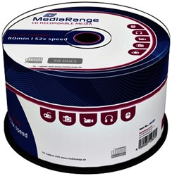 CD-R MediaRange 700MB|80min 52x speed, 50 stuks
