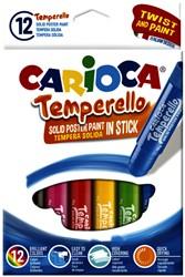 Plakkaatverf Carioca Temperello set à 12 sticks
