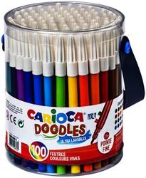 Viltstiften Carioca Doodles pot à 100 stuks