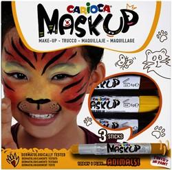 Schminkstift Carioca make-up dieren set à 3 kleuren