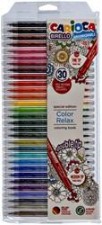 Viltstiften Carioca Birello dubbelpunters set à 30 kleuren