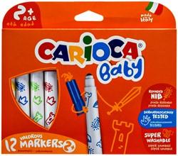 Viltstiften Carioca Baby set à 12 kleuren