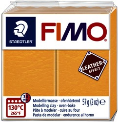 Klei Fimo  leather-effect 57 g saffraan geel
