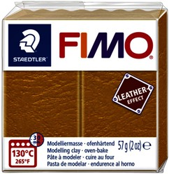 Klei Fimo  leather-effect 57 g oker