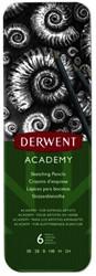Schetspotloden Derwent Academy blik à 6 stuks