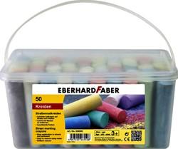 stoepkrijt Eberhard Faber emmer à 50 stuks assorti