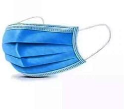 Mondkapje 3-laags blauw