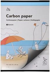 Carbonpapier A4 21x31cm 10x zwart