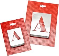 Sjabloon kistletter A-Z 20mm metaal