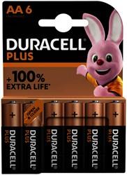 Batterij Duracell Plus 6xAA