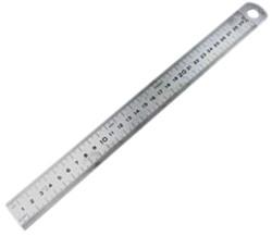 liniaal 100x3cm rvs