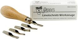 Linoset Abig 5 stuks + houder