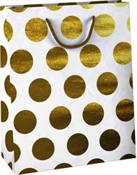 Cadeautas Design Group golden dots kraft 26x12cm