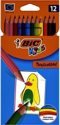 Kleurpotloden Bic Kids Tropicolors blister à 12 stuks