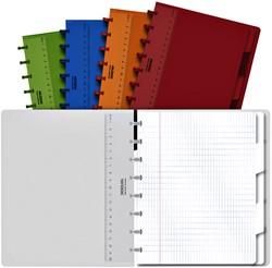 Schrift Adoc Colorlines A5 ruit 4x8mm 144blz 90gr PP assorti