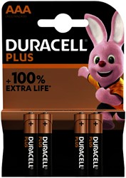 Batterij Duracell Plus 4xAAA