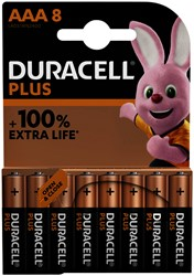 Batterij Duracell Plus 8xAAA